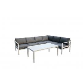Aiamööbli komplekt Bello Giardino ALLUMINIO XL must, diivan + laud