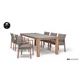 Aiamööbli komplekt SQUARE tiik, 6 tooli + laud