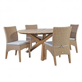 Aiamööblikomplekt HENRY laud ja 4-tooli