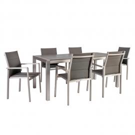 Aiamööblikomplekt CEDRIC laud ja 6 tooli