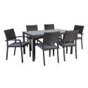 Aiamööbli komplekt BASIC-2 laud ja 6 tooli