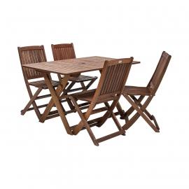 Aiamööbli komplekt MODENA laud ja 4 tooli