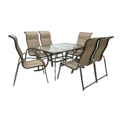 Aiamööbli komplekt MONTREAL laud ja 6-tooli