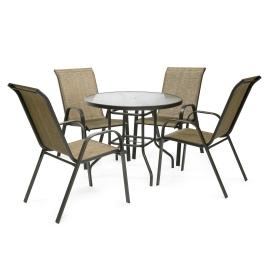 Aiamööbli komplekt DUBLIN laud ja 4 tooli