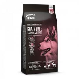 PrimaDog GRAIN FREE täistoit lõhe-kartuli kõikidele täiskasvanud koertele 20kg