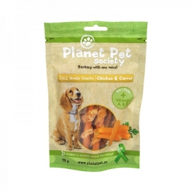 Planet Pet Society 2in1 maius koerale kana-porgand 4x70g