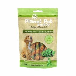 Planet Pet Society 2in1 maius koerale kana-spinat 4x70g