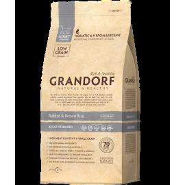 Grandorf Cat - Jäneseliha ja pruun riis 2kg - Adult Sterilised kassitoit