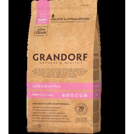 Grandorf Dog - Lammas ja pruun riis 3kg - Puppy koeratoit
