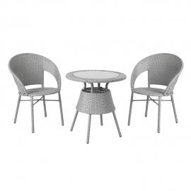Rõdukomplekt PAULA laud ja 2 tooli