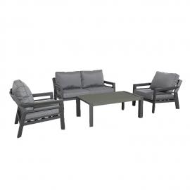 Aiamööblikomplekt TOMSON laud, diivan ja 2 tooli