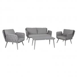 Aiamööblikomplekt ASCONA laud, diivan ja 2 tooli