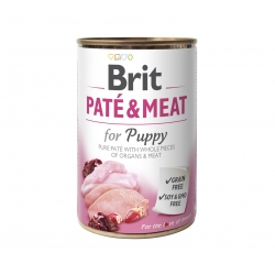 Brit Care Chicken & Turkey Pate & Meat for Puppy konserv 6x400g