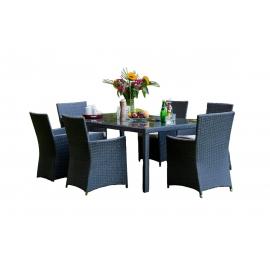 Aiamööbli komplekt Bello Giardino GUSTOSO hall, 6 tooli + laud