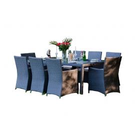Aiamööbli komplekt Bello Giardino GUSTOSO XL hall, 8 tooli + laud