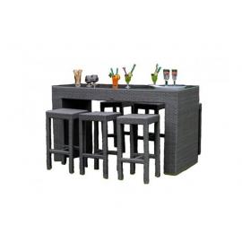 Aiamööbli komplekt Bello Giardino GENIALE hall, 6 tooli + laud